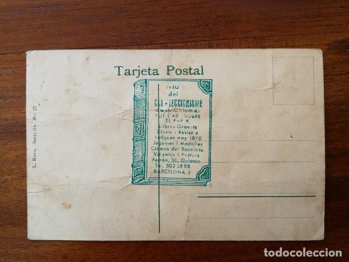 Coleccionismo deportivo: POSTAL DE MONTSERRAT ( BARCELONA ) - GRUPO DE CICLISTAS - Foto 2 - 142806590