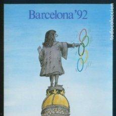Coleccionismo deportivo: ARTISTA *CESC* *BARCELONA´92* ED. DRY MARTINI BAR. DEP. LEGAL B. 40648-83. NUEVA.. Lote 151355214