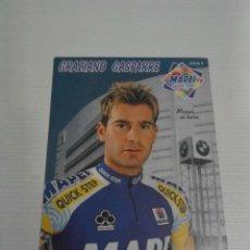 Coleccionismo deportivo: POSTAL GRAZIANO GASPARRE MAPEI 2001.. Lote 152442286