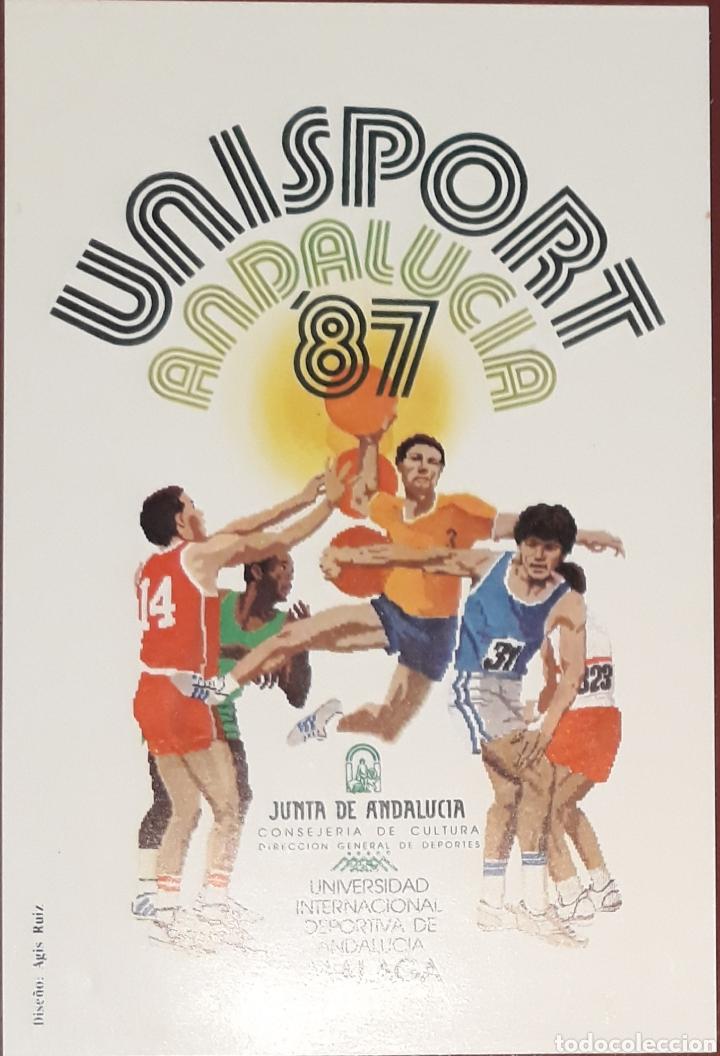 POSTAL UNISPORT ANDALUCIA 87 MALAGA 1987 (Coleccionismo Deportivo - Postales de otros Deportes )