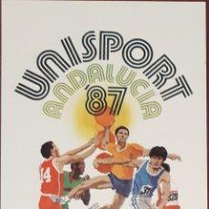 Coleccionismo deportivo: POSTAL UNISPORT ANDALUCIA 87 MALAGA 1987. Lote 153698926
