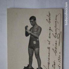 Coleccionismo deportivo: POSTAL BOXEO FIRMADA CESAR CAMPUZANO 1930 VIGO. Lote 153703682