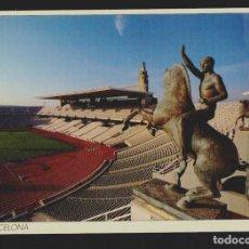 Coleccionismo deportivo: BARCELONA.ESTADI OLIMPIC. ESCULTURES DE PAU GARGALLO.POSTÁL SIN CIRCULAR. Lote 156548094