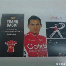 Coleccionismo deportivo: POSTAL YOANN BAGOT COFIDIS.. Lote 156592990
