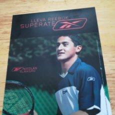 Coleccionismo deportivo: POSTAL REEBOK - NICOLÁS ALMAGRO. Lote 160191128