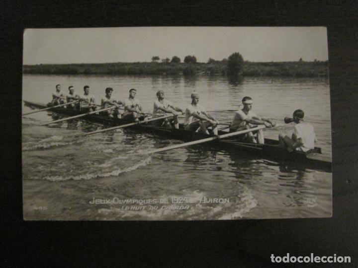 JUEGOS OLIMPICOS 1924-COMPETICION REMO-EQUIPO DE CANADA-POSTAL FOTOGRAFICA-VER FOTOS-(58.887) (Coleccionismo Deportivo - Postales de otros Deportes )