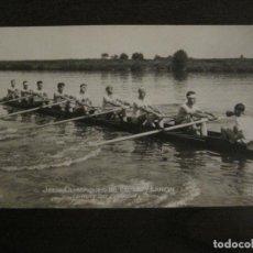 Coleccionismo deportivo: JUEGOS OLIMPICOS 1924-COMPETICION REMO-EQUIPO DE CANADA-POSTAL FOTOGRAFICA-VER FOTOS-(58.887). Lote 161158138