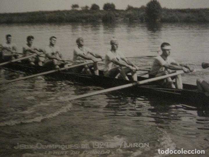 Coleccionismo deportivo: JUEGOS OLIMPICOS 1924-COMPETICION REMO-EQUIPO DE CANADA-POSTAL FOTOGRAFICA-VER FOTOS-(58.887) - Foto 3 - 161158138