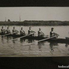 Coleccionismo deportivo: JUEGOS OLIMPICOS 1924-COMPETICION REMO-EQUIPO DE ITALIA-POSTAL FOTOGRAFICA-VER FOTOS-(58.888). Lote 161158206