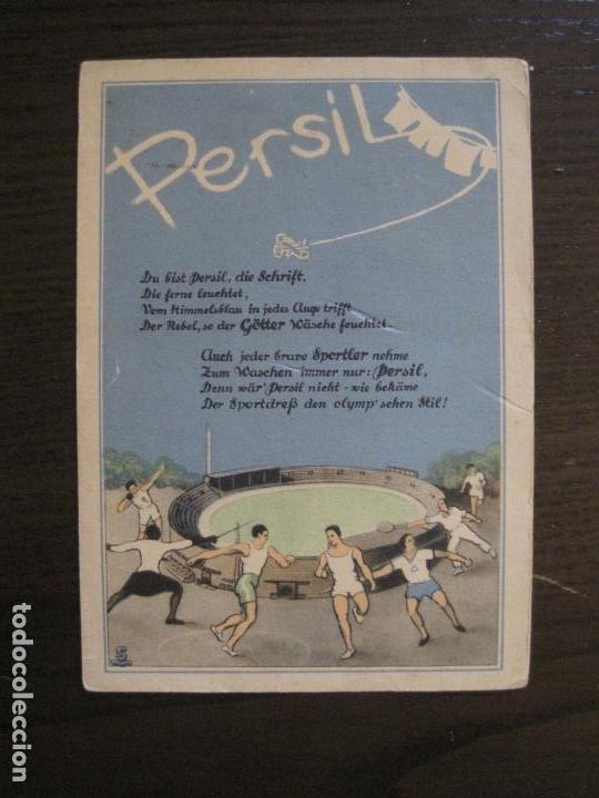 PERSIL-POSTAL PUBLICITARIA-DEPORTES-AVION-VER FOTOS-(59.127) (Coleccionismo Deportivo - Postales de otros Deportes )