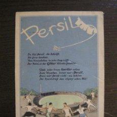 Coleccionismo deportivo: PERSIL-POSTAL PUBLICITARIA-DEPORTES-AVION-VER FOTOS-(59.127). Lote 162643110