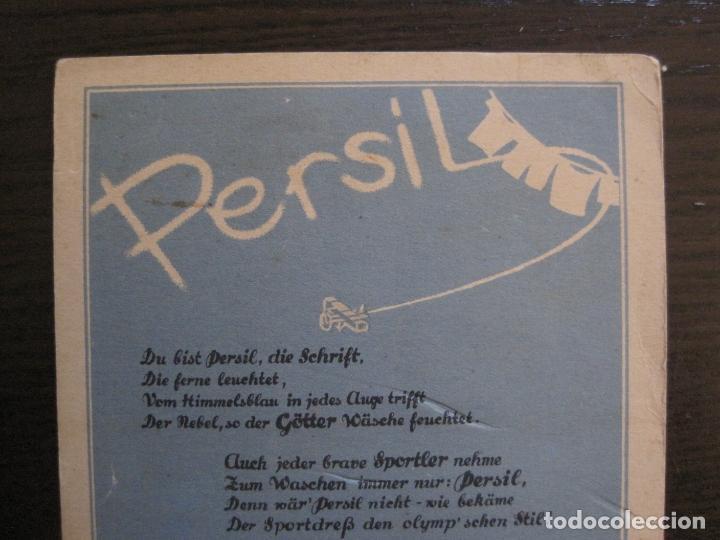 Coleccionismo deportivo: PERSIL-POSTAL PUBLICITARIA-DEPORTES-AVION-VER FOTOS-(59.127) - Foto 2 - 162643110