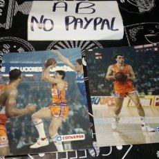 Coleccionismo deportivo: LOTE 2 ANTIGUAS POSTALES TIPO FOTO FOTOGRAFÍA PUBLICIDAD CONVERSE TAU TAUGRES BASKONIA. Lote 163611041