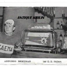 Coleccionismo deportivo: POSTAL PUBLICITARIA DEL GRUPO CICLISTA FAEMA , ANTONIO BERTRAN . Lote 168638296
