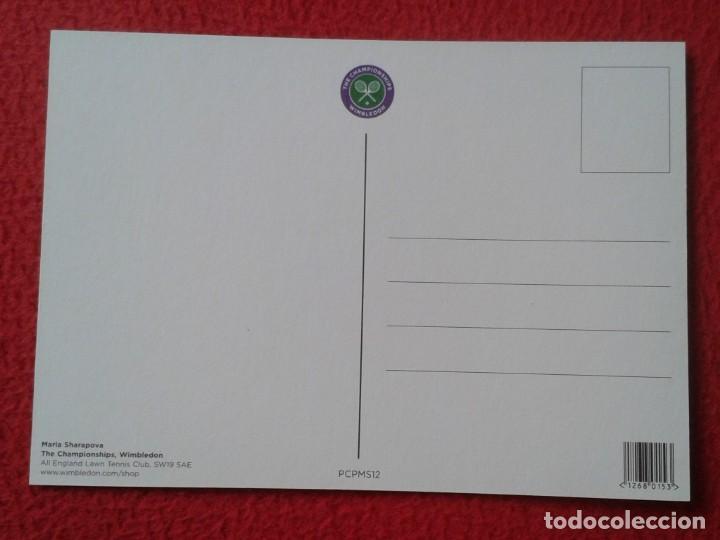 Coleccionismo deportivo: POSTAL POST CARD TENIS TENNIS WIMBLEDON MARIA SHARAPOVA RUSSIA RUSIA THE CHAMPIONSHIPS ALL ENGLAND - Foto 2 - 170377452