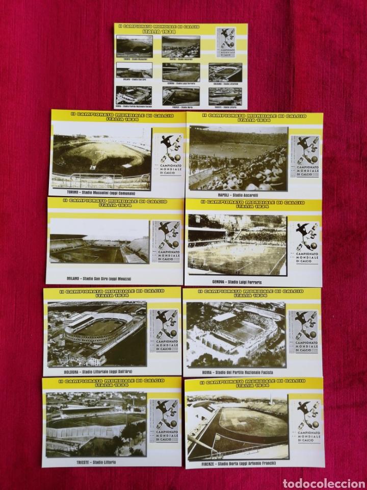 LOTE DE 11 POSTALES DEL II CAMPEONATO MONDIALE DI CALCIO ITALIA 1934 (Coleccionismo Deportivo - Postales de otros Deportes )