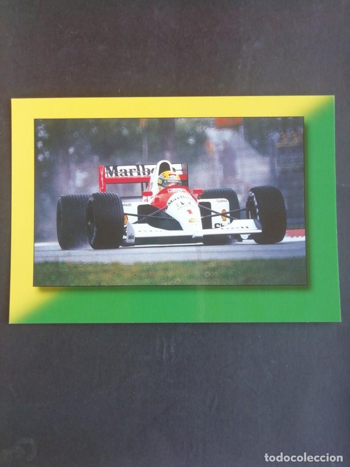 POSTAL FÓRMULA 1. AIRTON SENNA. GP IMOLA 1992 (Coleccionismo Deportivo - Postales de otros Deportes )