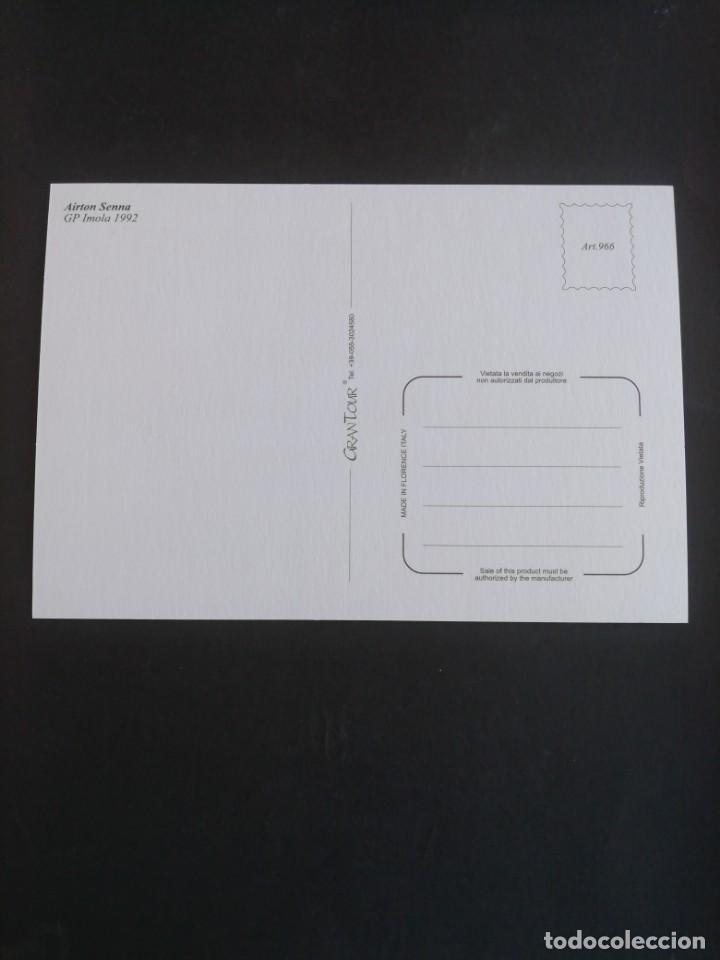 Coleccionismo deportivo: Postal Fórmula 1. Airton Senna. GP Imola 1992 - Foto 2 - 171749205