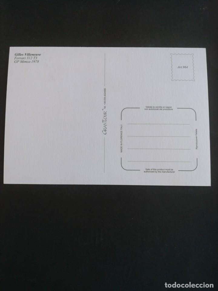 Coleccionismo deportivo: Postal Fórmula 1. Gilles Villeneuve. GP Monza 1978 - Foto 2 - 171749474