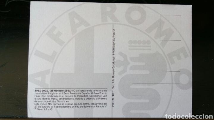 Coleccionismo deportivo: Alfa Romeo / 50 Aniversario de la Victoria de Juan Manuel Fargio II gran Premio de España - Foto 2 - 171962824