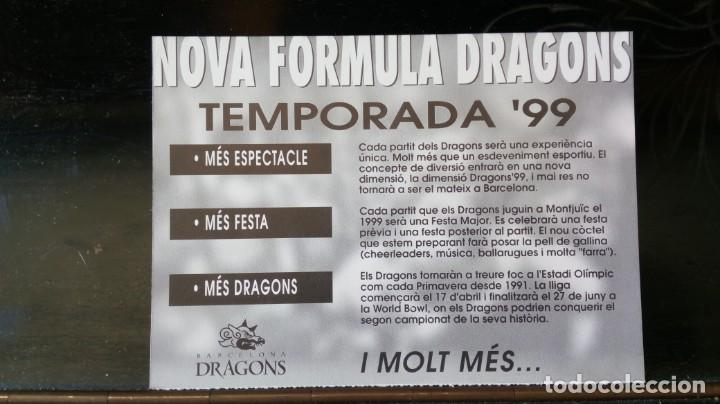 Coleccionismo deportivo: Barcelona Dragons /Temporada 99 - Foto 2 - 171964392