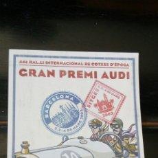 Coleccionismo deportivo: GRAN PREMI AUDI AUDI \SITGES 2002. Lote 172218685