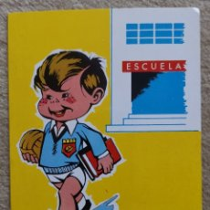 Coleccionismo deportivo: POSTAL ESCUELA BALONMANO - FEDERACIÓN ESPAÑOLA BALONMANO FEBM - AÑO 1969. Lote 173920097