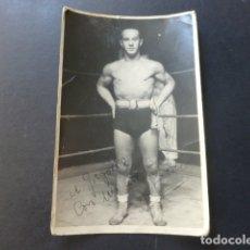 Coleccionismo deportivo: J. SORIA BOXEADOR AÑOS 40 POSTAL FOTOGRAFICA BOXEO. Lote 175362038