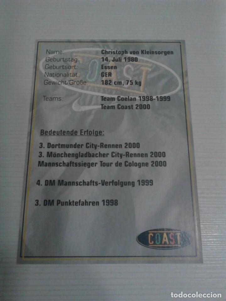 Coleccionismo deportivo: Postal Christoph von Kleinsorgen Coast. - Foto 2 - 176268514