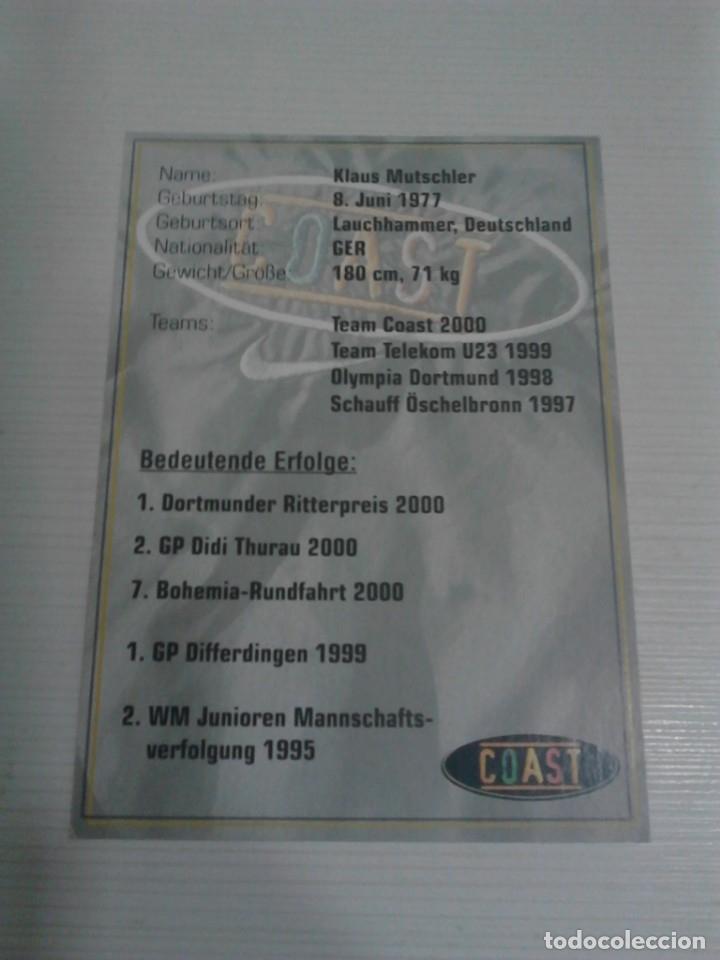 Coleccionismo deportivo: Postal Klaus Mutschler Coast. - Foto 2 - 176268632