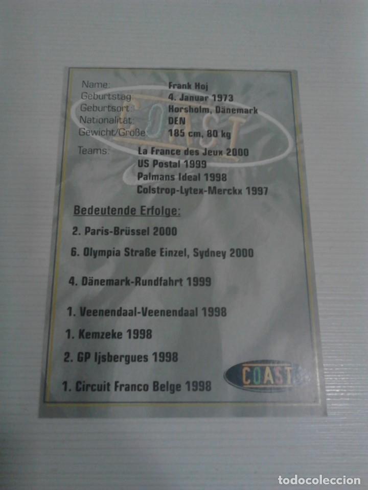Coleccionismo deportivo: Postal Frank Hoj Coast. - Foto 2 - 176269200
