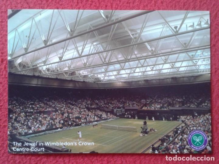 POSTAL POST CARD TENIS TENNIS WIMBLEDON THE JEWEL IN WIMBLEDON'S CROWN CENTRE COURT ALL ENGLAND LAWN (Coleccionismo Deportivo - Postales de otros Deportes )