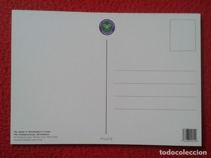 Coleccionismo deportivo: POSTAL POST CARD TENIS TENNIS WIMBLEDON THE JEWEL IN WIMBLEDONS CROWN CENTRE COURT ALL ENGLAND LAWN - Foto 2 - 176533359
