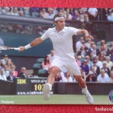 Coleccionismo deportivo: POSTAL TENIS TENNIS WIMBLEDON ROGER FEDERER SWITZERLAND THE CHAMPIONSHIPS ALL ENGLAND LAWN CLUB VER . Lote 176576123