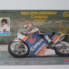 Coleccionismo deportivo: SITO PONS. WORLD GP250 CHAMPIONSHIP. POSTAL TROQUELADA CON SU FIRMA. Lote 177028460