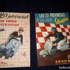 Coleccionismo deportivo: POSTALES VESPA CLUB. I Y II GRAN PRUEBA DE REGULARIDAD. LAS 20 PROVINCIAS 1958 Y 1959. Lote 178254490