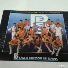 Coleccionismo deportivo: ANTIGUA PEGATINA DE BALONCESTO SELECCION ESPAÑOLA BALONCESTO 1987. Lote 181342581
