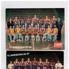 Coleccionismo deportivo: 2 POSTALES - FC BARCELONA - SECCION BALONCESTO - TEMPORADAS 86 87 Y 87 88 -. Lote 183268668