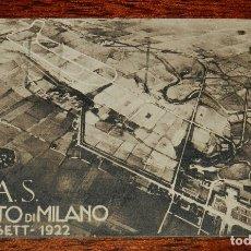 Coleccionismo deportivo: POSTAL DEL CIRCUITO DI MILANO, SIAS, 1922, MOTOCICLISMO, AUTOMOVILISMO, CIRCULADA.. Lote 183306505