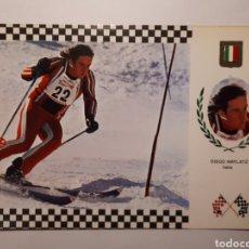 Coleccionismo deportivo: DIEGO AMPLATZ. ITALIA. POSTAL SERIE ESQUÍ N. 10. Lote 183421093