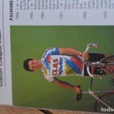 Coleccionismo deportivo: FOTO DEL CLAS TEMPORADA 91.IÑAKI GASTÓN. Lote 183707176