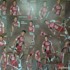 Coleccionismo deportivo: 22 POSTALES. CICLISMO. SEGUROS VITALICIO. EQUIPO 1998. FIRMADA LA DE SANTI BLANCO.. Lote 183745138