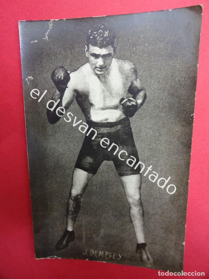 JACK DEMPSEY. BOXEO. BOXEADOR. POSTAL FOTOGRÁFICA ORIGINAL AÑOS 1920S (Coleccionismo Deportivo - Postales de otros Deportes )