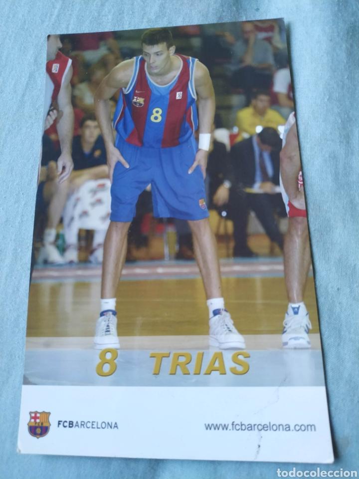 POSTAL TIPO FICHA JUGADOR TRIAS FC BARCELONA BALONCESTO BARÇA (Coleccionismo Deportivo - Postales de otros Deportes )