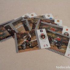 Coleccionismo deportivo: SERIE MOTOCROSS - COLECCIÓN DE 12 POSTALES - COMPLETA. Lote 186416033