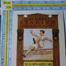Coleccionismo deportivo: POSTAL DE DEPORTES. OLIMPIADAS. JUEGOS OLÍMPICOS. CARTEL LONDRES 1908. VENCA. 1780. Lote 187453551