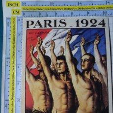 Coleccionismo deportivo: POSTAL DE DEPORTES. OLIMPIADAS. JUEGOS OLÍMPICOS. CARTEL PARIS 1924. VENCA. 1782. Lote 187453631
