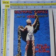 Coleccionismo deportivo: POSTAL DE DEPORTES. OLIMPIADAS. JUEGOS OLÍMPICOS. CARTEL LOS ÁNGELES 1932. VENCA. 1784. Lote 187453683