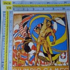 Coleccionismo deportivo: POSTAL DE DEPORTES. OLIMPIADAS. JUEGOS OLÍMPICOS. CARTEL ESTOCOLMO 1912. VENCA. 1785. Lote 187453712