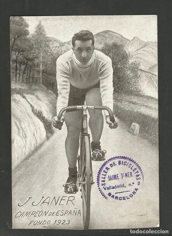 Coleccionismo deportivo: CICLISMO-J. JANER CAMPEON DE ESPAÑA-FONDO 1923-POSTAL ANTIGUA-(66.289) - Foto 2 - 190987700